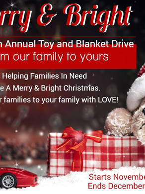Merry & Bright Tourism Toy/Blanket Drive