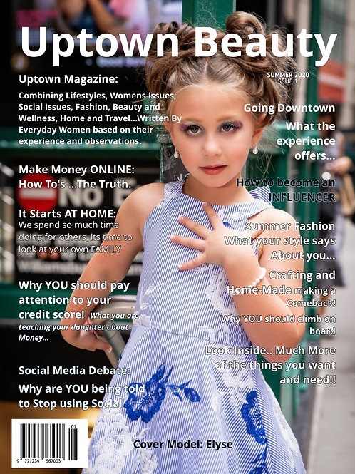 initial Photo Entry ~~~~Uptown-Beauty Magazine Cover Contest
