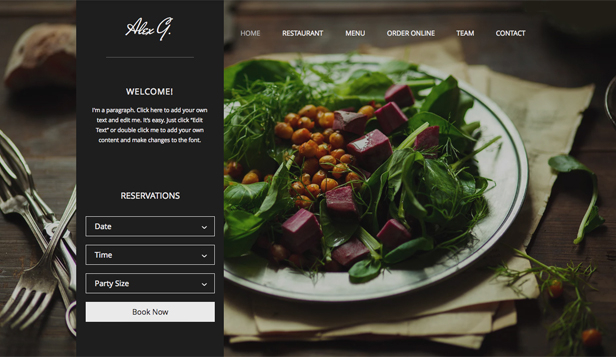 Restaurants food website templates wix for Site cuisine
