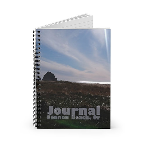 Haystack Rock, Cannon Beach Oregon, Spiral Notebook - Ruled Line