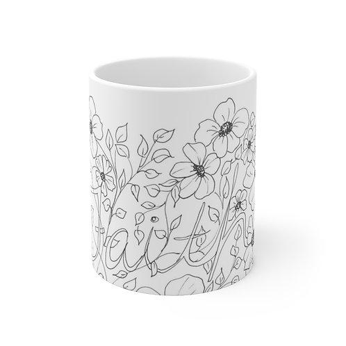 Color your own Ceramic Mug (EU) FAITH