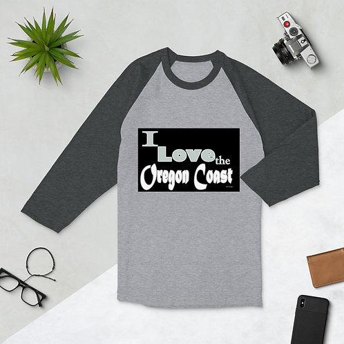 iI love the Oregon Coast, 3/4 sleeve raglan shirt