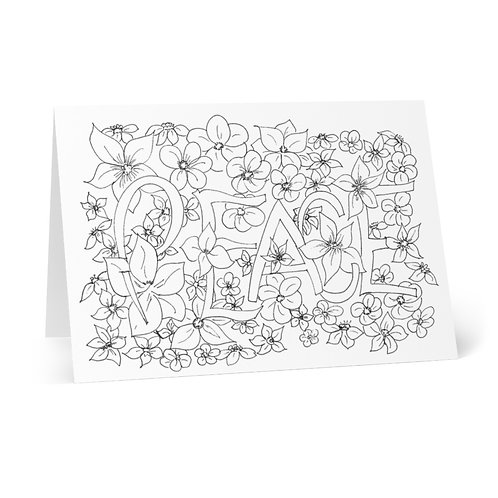 Color your Own Peach Greeting Cards (8 pcs)