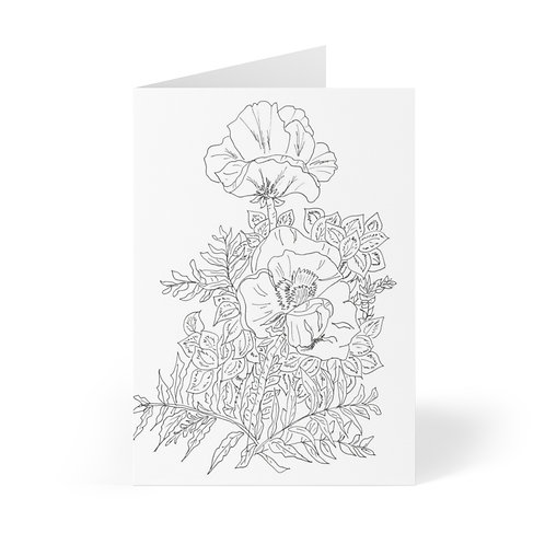 Color your own Greeting Cards (8 pcs)