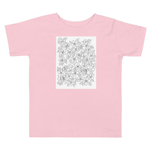 Color your own Toddler Short Sleeve Tee