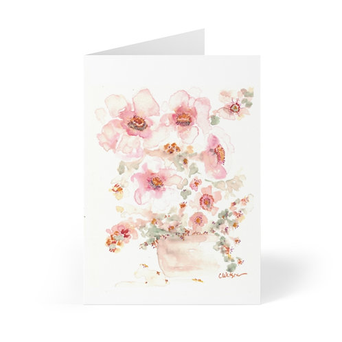 10 Printed Note Cards  4x5