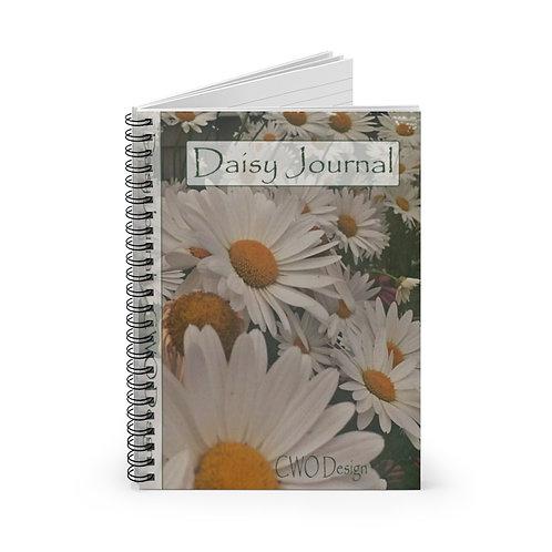 A Daisy Journal Spiral Notebook - Ruled Line