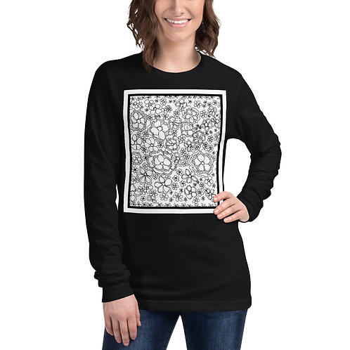 Color Your Own CWO Design Unisex Long Sleeve Tee, UR own personal wearable art.