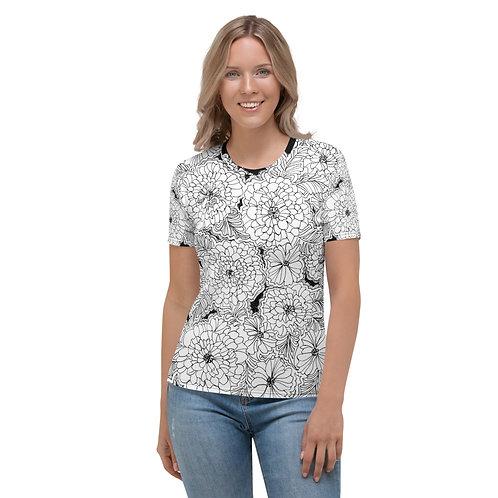 Black and White Wearable ARt Women's T-shirt