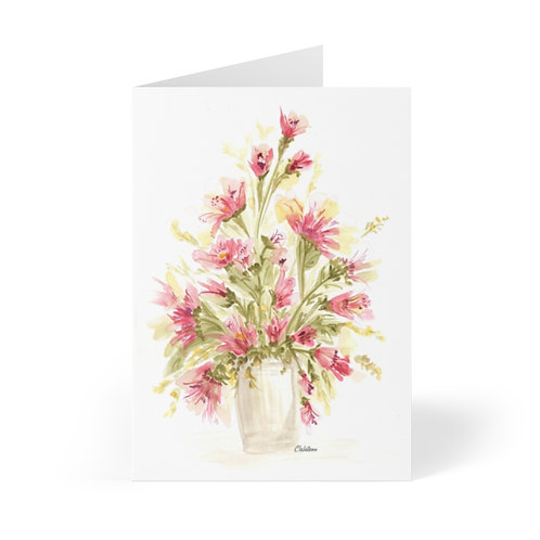 Reddish 5x4 blank note cards in set of 10