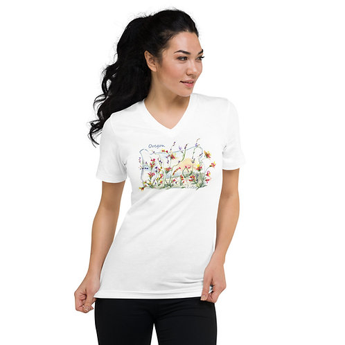 Oregon Unisex Short Sleeve V-Neck T-Shirt