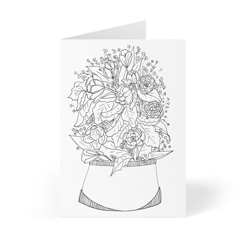 Color Your Own CWO Design Greeting Cards (8 pcs) by Bloom'n Art Studio