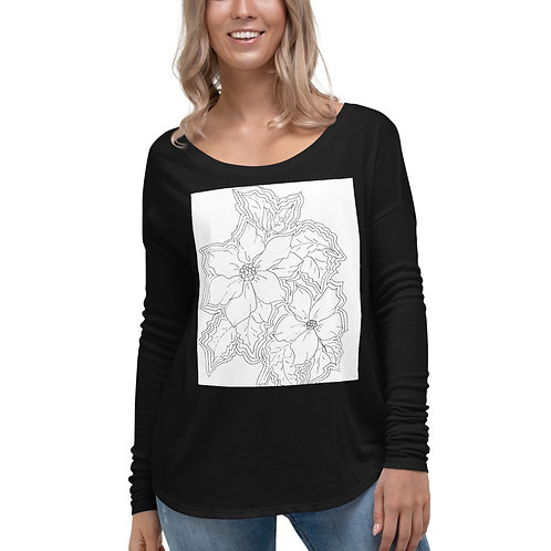 In time for Christmas...Color your own Ladies' Long Sleeve Tee
