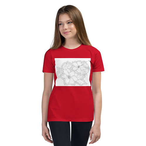 Color your own Holiday Youth Short Sleeve T-Shirt