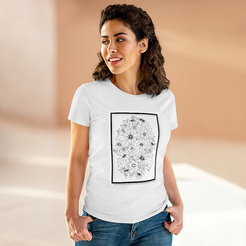 Color Your Own CWO Design Women's Heavy Cotton Tee, art by Bloom'n Art Studio.