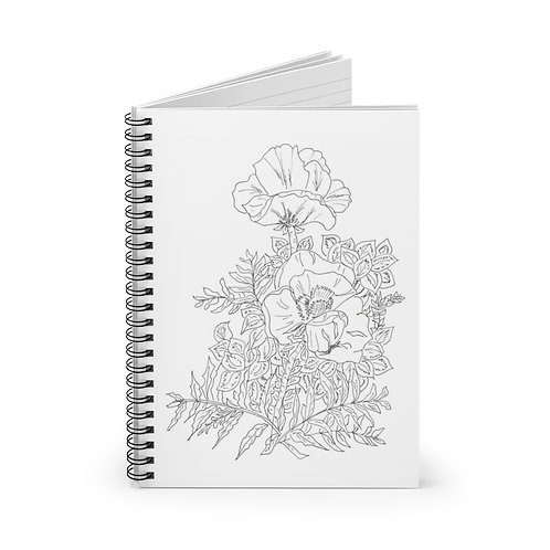 Color your own cover.. Spiral Notebook - Ruled Line