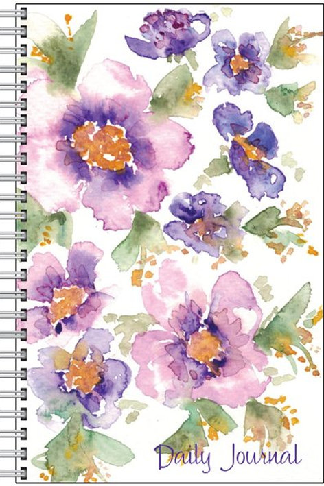 Watercolor art printed on Spiral notebook