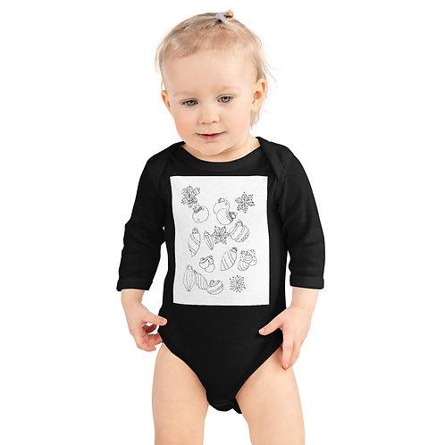 Color your Infant Long Sleeve Bodysuit