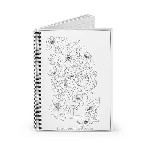 Color your own Journal, Spiral Notebook - Ruled Line