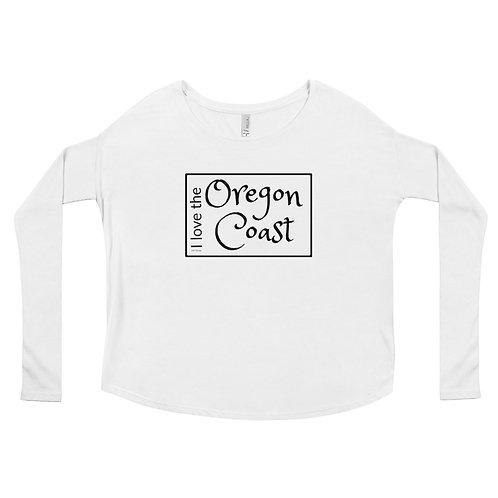 I love the Oregon Coast, Ladies' Long Sleeve Tee