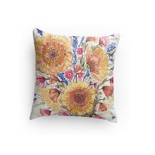 Sunflower pillow 18x18 or 14x14
