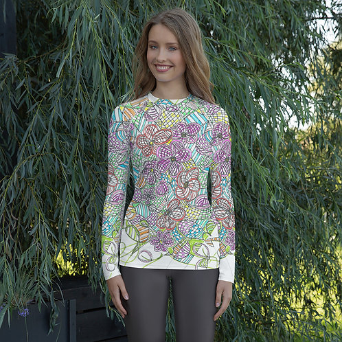 Wearable ARt Long Sleeve Women's Rash Guard