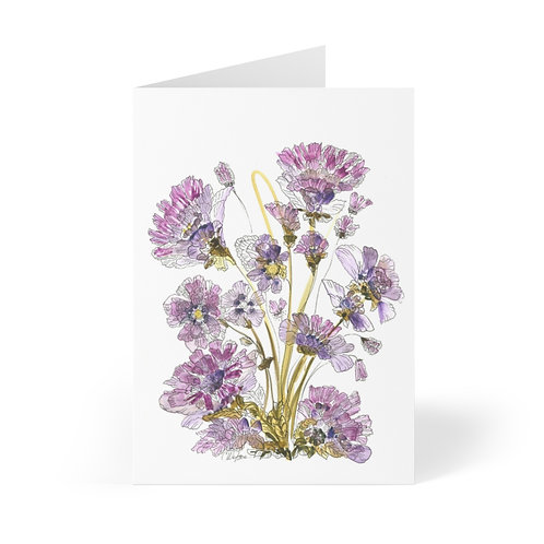Pretty Purple Greeting Cards (8 pcs) by C.Watson Originals and CWO Design.