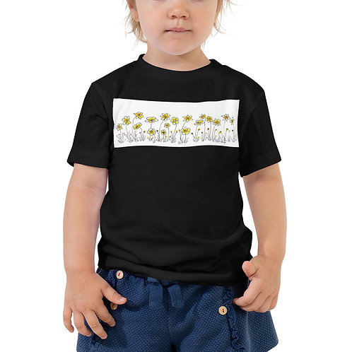 Daisy's Days Toddler Short Sleeve Tee drawing by Catherine Watson