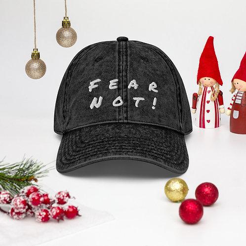 Fear Not!  Vintage Cotton Twill Cap