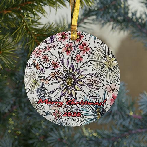Merry Christmas 2020 Glass Ornament