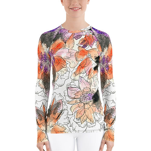Original art by CWO Design printed on Women's Rash Guard