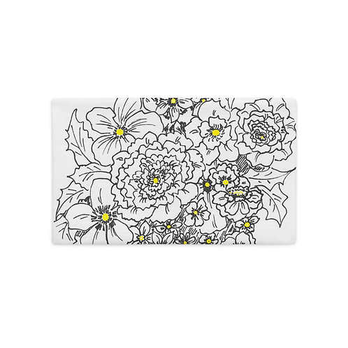 Black and white with yellow accents Premium Pillow Case
