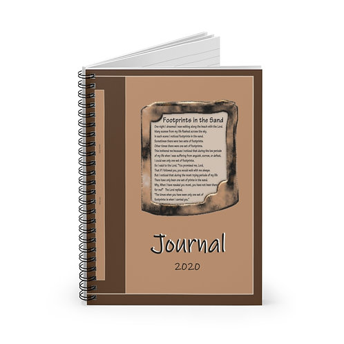 Foot Prints, Spiral Notebook - Ruled Line