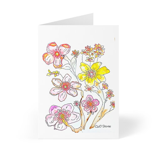 Colorful Greeting Cards (8 pcs)