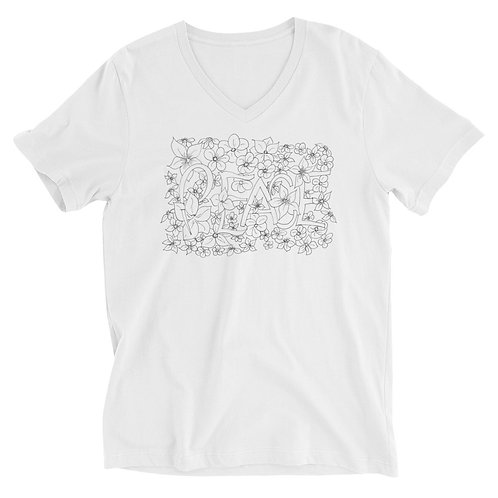 PEACE Short Sleeve V-Neck T-Shirt