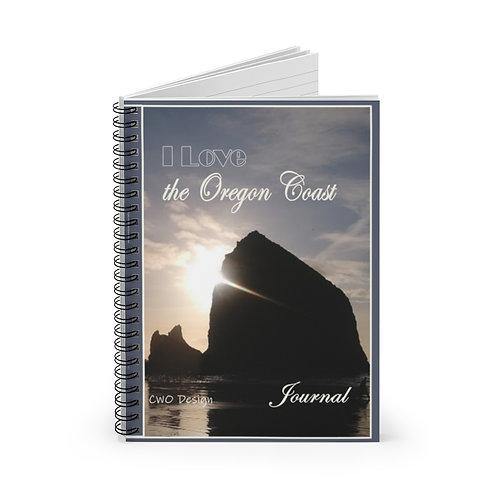 I love the Oregon Coast, Haystack Rock-Cannon Beach.Spiral Notebook - Ruled Line
