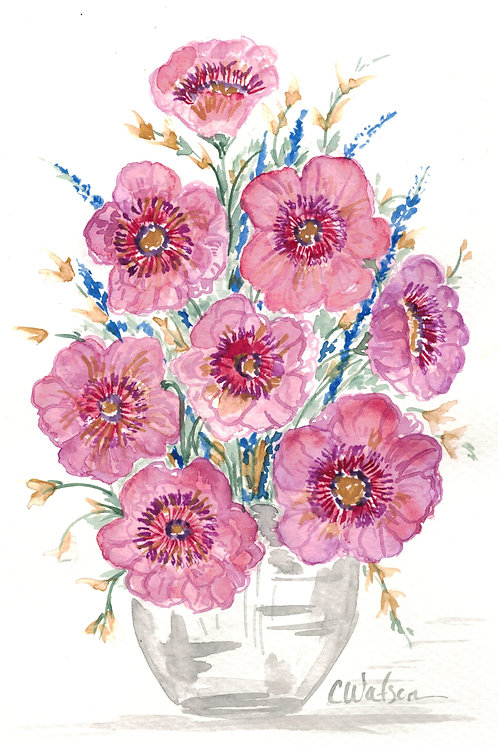 Pretty in Pink Watercolor