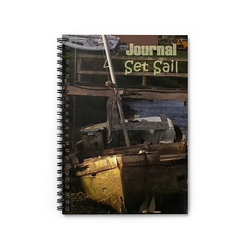 Set Sail Journal Spiral Notebook - Ruled Line