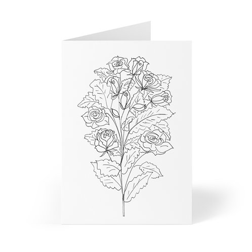Color Your Own CWO Design Greeting Cards (8 pcs) from Bloom'n Art Studio