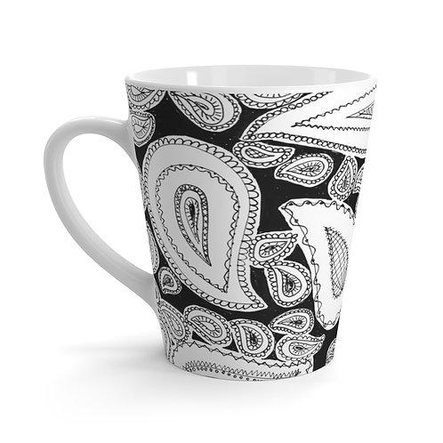 Paisley Latte Mug