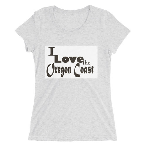 I love the Oregon Coast, Ladies' short sleeve t-shirt