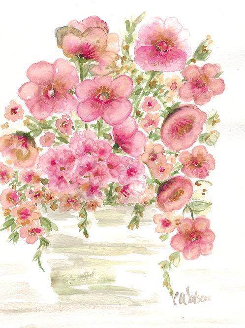 Dusty Rose floral arrangement