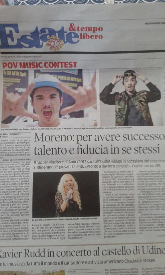 J3S E MORENO AL POV MUSIC CONTEST DI PALMANOVA