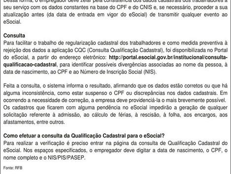 e-Social -Qualificação Cadastral
