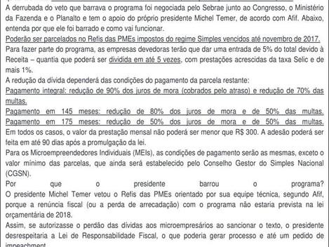 Refis 2018 - Simples Nacional