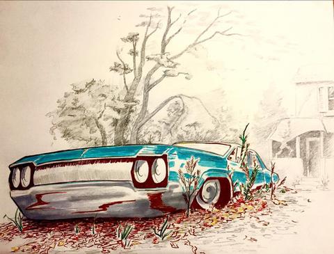 Car Sketch, Meg Lemieur