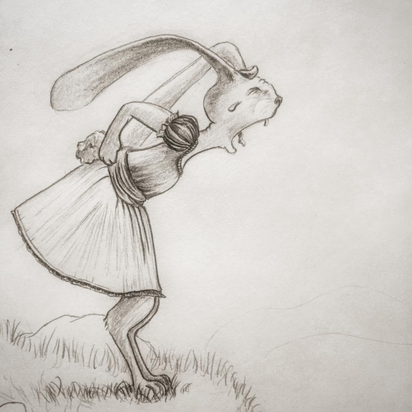 Sketch for children's book, Meg Lemieur