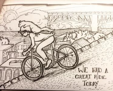 Bike Ride, Meg Lemieur