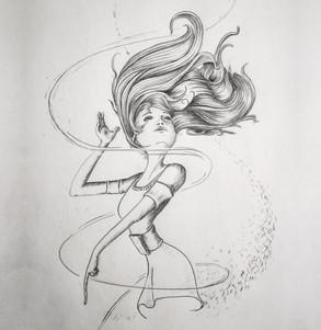 Wind in the Door Sketch, Meg Lemieur