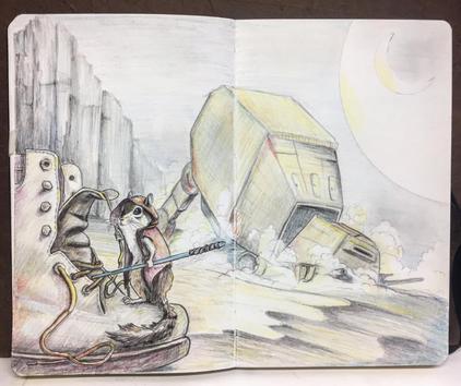 Star Wars Chimpunk, Meg Lemieur